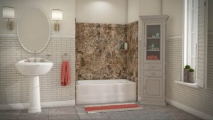 Austin Bathroom Remodel breccia-paradiso-elite-full - 1 Day Bath of Texas