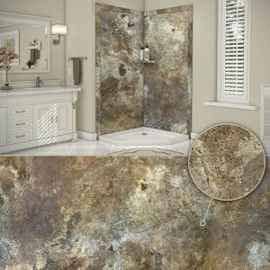 Austin Bathroom Remodel colors_abalone-travertine - 1 Day Bath of Texas