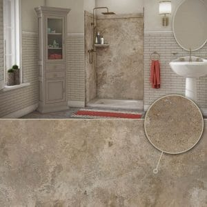 Austin Bathroom Remodel colors_mocha-travertine - 1 Day Bath of Texas
