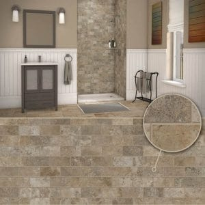 Austin Bathroom Remodel colors_simtile_t3_mocha-travertine-1 - 1 Day Bath of Texas