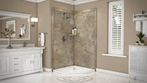 Austin Bathroom Remodel mocha-travertine-splendor-full - 1 Day Bath of Texas
