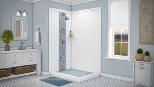 Austin Bathroom Remodel tetride-blue-waterfallfloor-full - 1 Day Bath of Texas